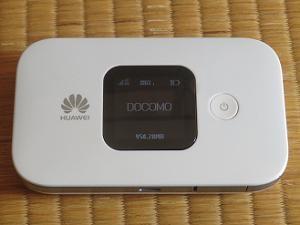 HUAWEI Mobile WiFi E5577のスイッチオン