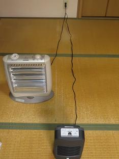 電気ストーブのコードと比較